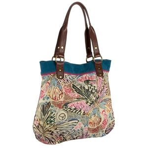 Lucky Brand Trippin Out Butterfly Tote Bag Purse
